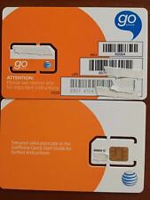 New At&T Sim Card 3G/4G Prepaid Go Phone 3G Ready To Activate.Sku 6006a Standar