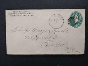Delaware: Highlands 1895 2c Entire Cover, Scarce DPO New Castle Co