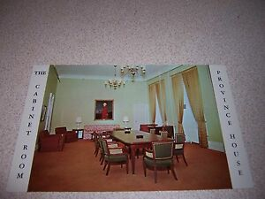 THE CABINET ROOM at PROVINCE HOUSE CHARLOTTETOWN PEI VTG POSTCARD