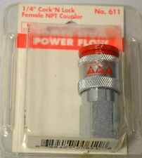 "1/4"" Cock 'N Lock Female NPT Coupler-Style M - Euro- #611, by RBL"