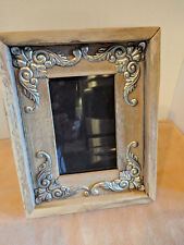 "WESTERN RUSTIC RECYCLED FARMHOUSE WOOD PICTURE PHOTO FRAME 3.5""x5.5"" FOLK ART"