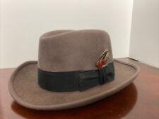 New listing Vintage Dynafelt Deluxe Fur Blend Fedora Large Size Men's Hat