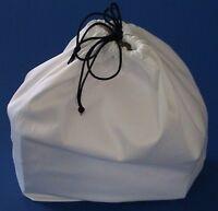 White Cotton Dust Bag for Handbag Purse Shoe bag Travel pouch Pick String w/ID