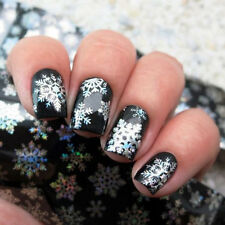 Women's Nail Art Transfer Foils Sticker Christmas Snowflake Paper Tips Decal