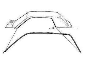 1964-66 Mustang Coupe 67 68 Cougar Roof Rail Seal Weather Stripping