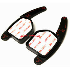 Negro Paddle cambio Extensiones Audi Volante Tiptronic Shifters Gear Up P4b