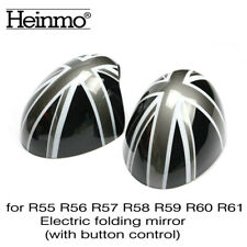 Union Jack Side Mirror Covers Caps Power Fold For Mini Cooper R55 R56 R57 58 R60