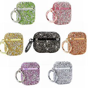 For Airpods Pro 3 2 Diamond Bling Glitte Charging Case Cover Protective Skin