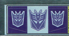 TRANSFORMERS GENERATION 1, G1 DECEPTICON SHOCKWAVE REPRO LABELS / STICKERS