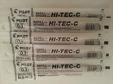 Pilot Hi-Tec-c Gel Pen Refill 0.3mm (5 black)