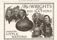 1919 ANTIQUE PRINT- ADVERT-WRIGHTS COAL TAR SOAP-RIGHTS OF NATIONS