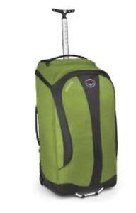 """Osprey High Road LT 28"""" 80L Ozone Wheeled Luggage Rolling Duffle Bag Green"""