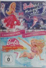 Barbie DVD Modezauber in Paris + Das Geheimnis von Oceana 2-Disc-DVD NEU & OVP