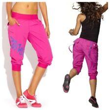 Authentic Zumba Cargo Capri Pants Pink Sz XL New