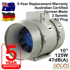 "HYDROPONIC INLINE EXHAUST FAN FOR CARBON FILTER 10"" 250mm  BLAUBERG TURBO 250 AU"