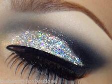 Glitter Eyes - Holographic Silver Eye shadow Kit Glitter Pot Fixing Gel Brush
