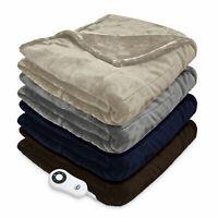Serta Silky Plush Electric Heated Warming Throw Blanket Digital
