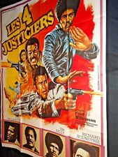 LES 4 JUSTICIERS jim kelly fred williamson  rare affiche cinema blaxploitation