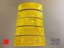 5 x 200mm x 55mm orange jaune réfléchissant bande conspicuity ece104 3m truck camion