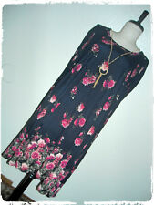 J For Justify Black Floral Rose A Line Skate Dress With Statement Necklace 2X