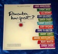 Various Artists Remember How Great...? LP Album 1961 Columbia XTV 66639
