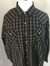 Big Mans Plains Western Wear 3XL Pearl Snap Shirt-A53