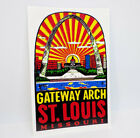 St. Louis Missouri Arch Vintage Style Travel Decal, Vinyl Sticker, Luggage Label