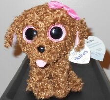 """Ty Beanie Boos Boo's ~ MADDIE the 6"""" Dog ~ 2014 NEW ~ Claires Exclusive Version"""