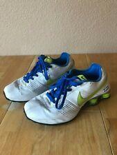 Nike Men's Shox Shoes Sneakers Size 9.5 US White Yellow Blue 317547-134