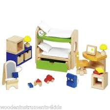 wooden dolls house furniture bundle bathroom living room bunk beds bedroom sets