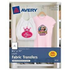 "Avery Iron-On T-Shirt Transfers 6/PK 8-1/2""x11"" 3271"