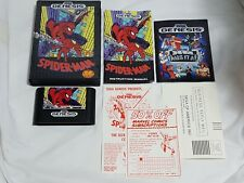 Spider-Man Sega Genesis COMPLETE Game w/ Sonic The Hedgehog 1 Poster US NTSC