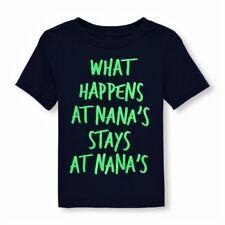 Boy's (What Happens at Nana's STAYS at Nana's) 12-18M - Navy NEON Green Graphics