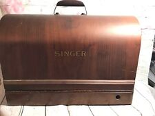 Antique 1948 Singer Model 128 Sewing Machine  Working Condition SN AH449555 case