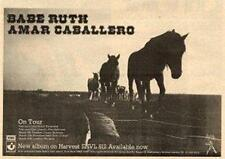 Babe Ruth Amar Caballero UK Tour advert 1974