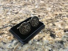 "Official Porsche PCA Car Club of America 1"" Black / Nickel Cuff Links"