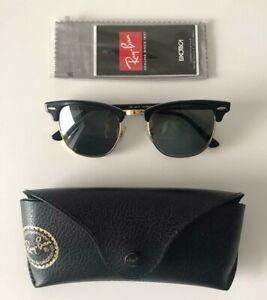 Ray Ban Clubmaster black RB3016 W0365 Sonnenbrille Gläser grün 49-21-140 unisex