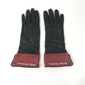 HARLEY DAVIDSON Womens Leather Riding Gloves Size Medium Black/red