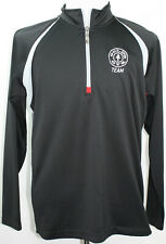 Gold'S Gym Gold's Group Exercise 1/4-Zip Pullover Large Black Alo Cool Fit Sweet