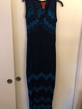 Missoni for Target Size Medium Maxi Sweater Dress Blue