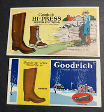 Goodrich Rubber Boots Advertising Blotter Mini Sign Farmer Barn Agricultural