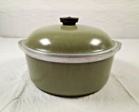 Vintage Club Aluminum 4QT Dutch Oven Cooking Pot Avocado Green with Lid