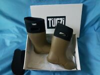KIDS NEOPRENE WELLIES BOYS GIRLS WELLINGTON RAIN BOOTS - UK SIZE 12 GREEN TUGZI