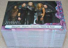 STARGATE ATLANTIS Season 3&4  Complete Trading Card Set