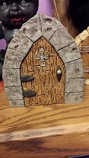 Gothic Fairy Door/ Gnome door/Sprite, doorway to the dark forest