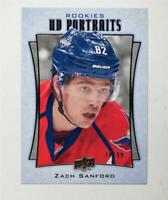 2016-17 Upper Deck UD Portraits Gold #P76 Zach Sanford /99 - NM-MT