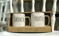 Rae Dunn Mug Set Survivor Fighter New in Box Artisan Collection by Magenta