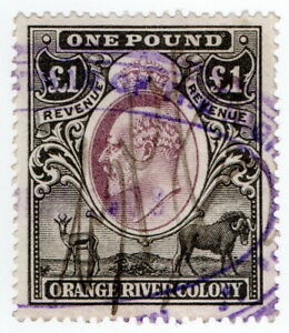 (I.B) Orange River Colony Revenue : Duty Stamp £1