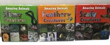 Amazing Animals Books Set of 3 Scaly, Feathery and Slimy Creatures.