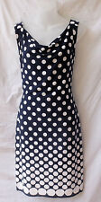 Size 10 Stretch Navy White Dress Summer Corporate Work Casual Dinner Travel